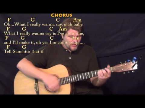 Santeria (Sublime) Strum Guitar Cover Lesson in C with Chords/Lyrics