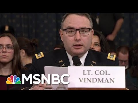 Vindman: Dad Made Right Choice To Leave Soviet Union. I Will Be Fine For Telling The Truth. | MSNBC