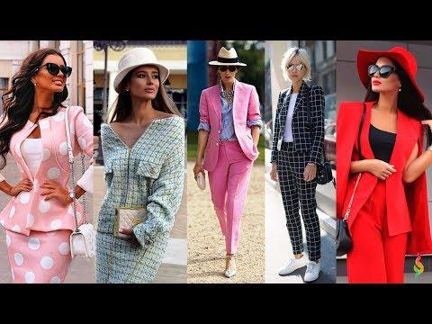 Модные женские костюмы 2018 Фото лучших костюмов с юбкой и брюками: тенденции, стильные образы