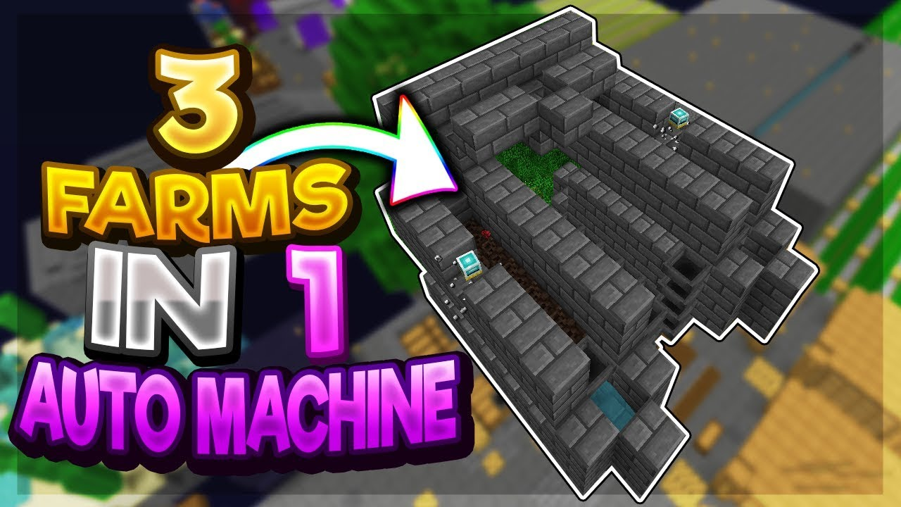 Best 3 In 1 Auto Farming Machine Hypixel Skyblock Guide Youtube