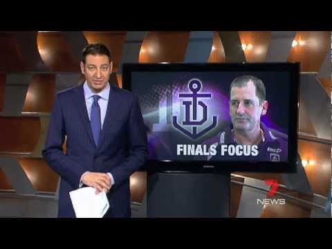 Ross Lyon & Nat Fyfe on 7 News 12/03/2012