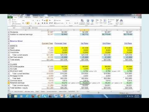 Financial Planning & Forecasting - Spreadsheet Modeling