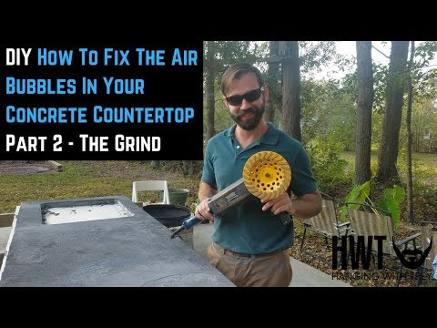DIY | Concrete Countertop Part 2 The Grind | Hanging With Trey