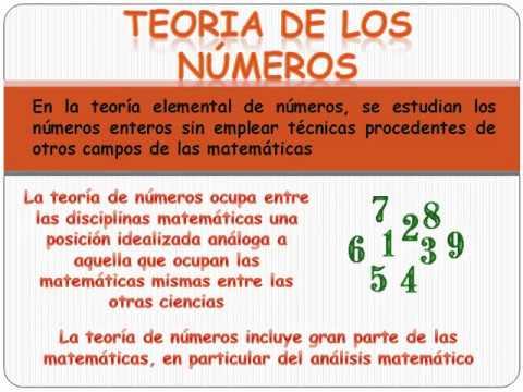 Resultado de imagen de Teoría de números