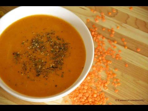 Recette De Soupe A Lentille Rouge Youtube