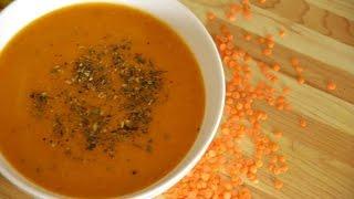 Recette de Soupe à lentille rouge