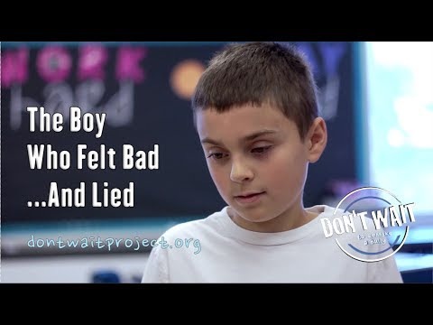"""The Boy Who Felt Bad and Lied"" - Antibullying PSA Saratoga, NY - DON'T WAIT to UnMake a Bully™"