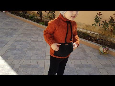 Свитшот  или Худи детский. ребёнку 3- 4 года  спицами 1ЧАСТЬ