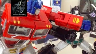 Transformers Stop Motion- MP10 Optimus Prime vs Nemesis Prime Stop Motion
