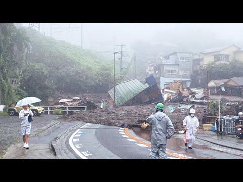 Dozens missing as homes are swept away in Japan landslide