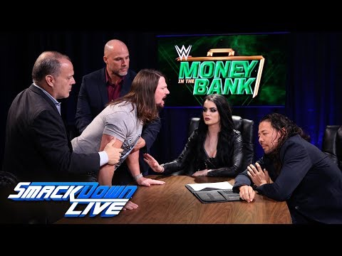Styles & Nakamura trade barbs during explosive contract signing: SmackDown , June 5, 2018