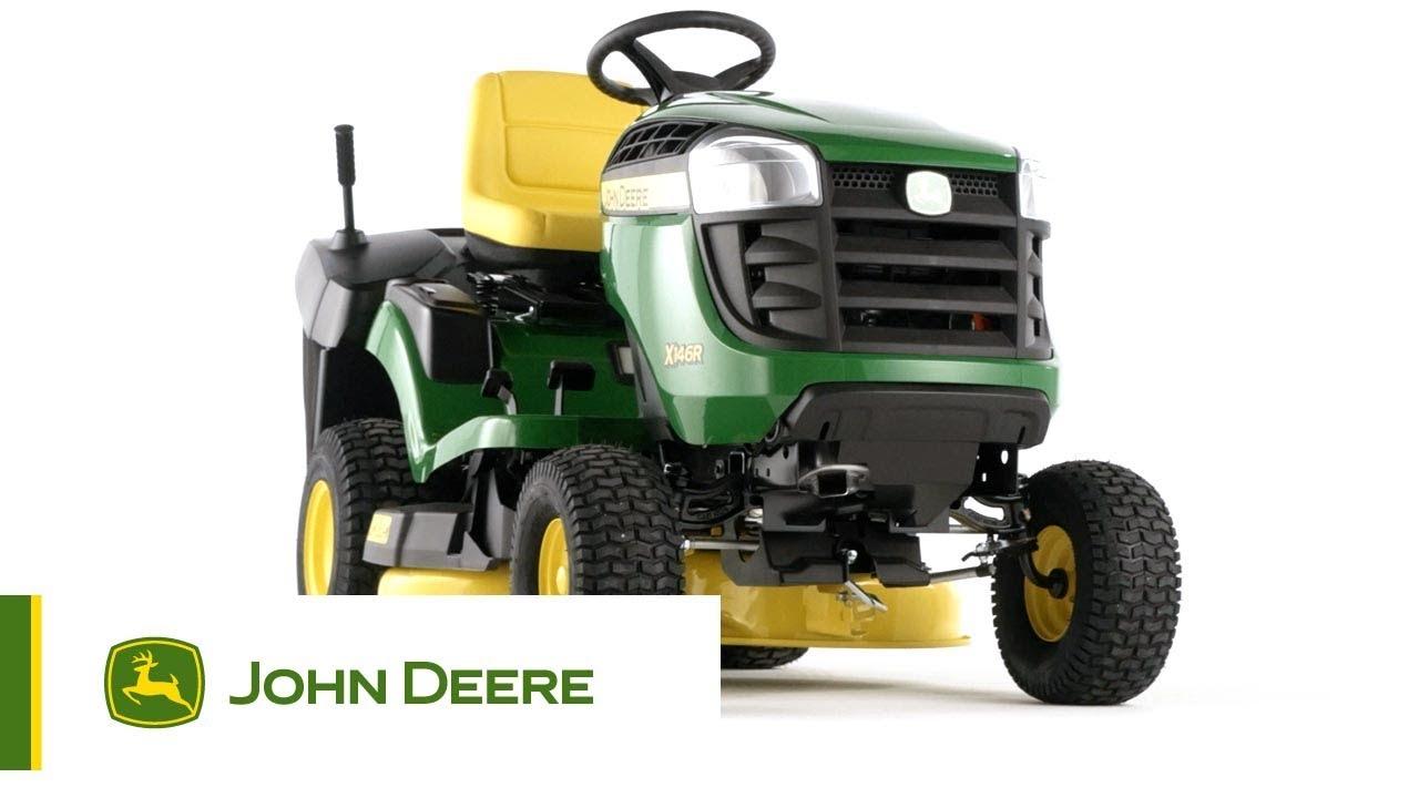 john deere - tracteur de jardin x146r - youtube