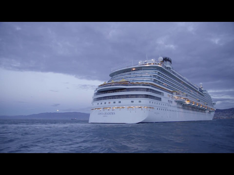 Costa Diadema Taufe Einlaufen In Genua Youtube