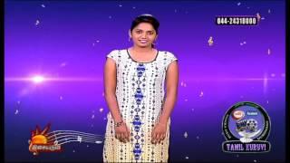 Isaiaruvi Isaithendral Sumaiya tamil girl HD Video Tv show 23 06 2016