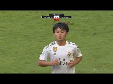18 Year Old Takefusa Kubo Debut Games For Real Madrid! | Pre-Season Highlights
