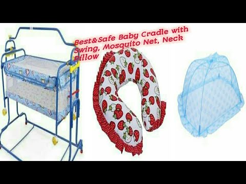 infants-best-baby-cradle-with-swing-//baby-hug-neck-pillow&mosquito-net-demo-or-review-in-telugu☝️