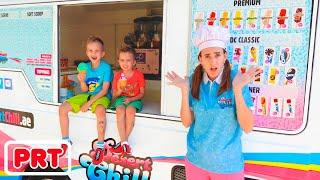 Vlad e Nikita no caminhão de sorvete da mãe