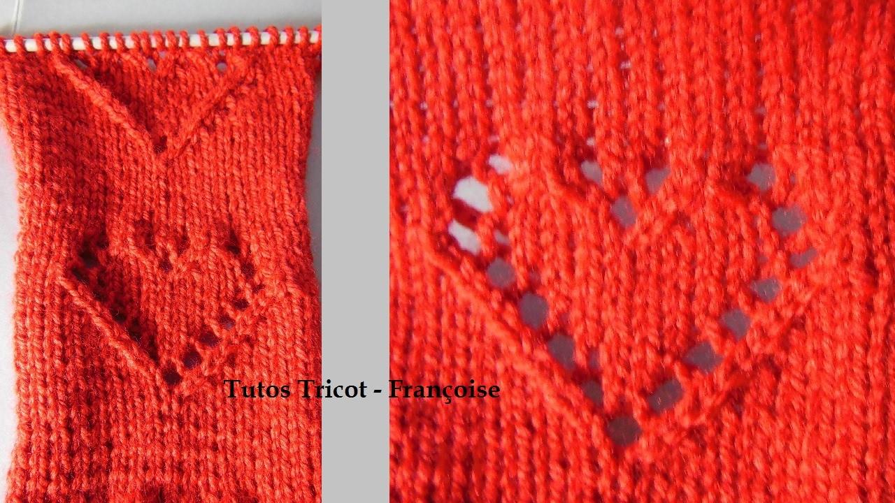 tricoter le point joli coeur