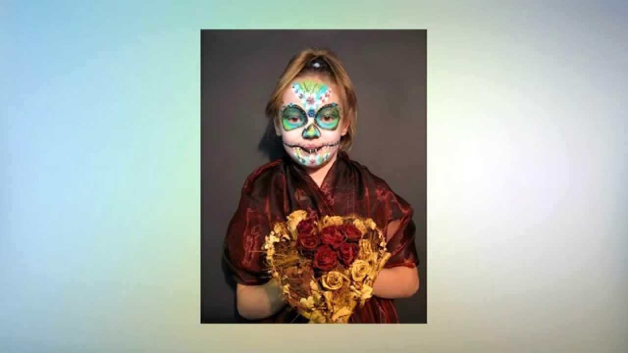kinderschminken sugar skull schminkanleitung halloween youtube. Black Bedroom Furniture Sets. Home Design Ideas