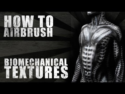How To Airbrush Body Paint Biomechanical Stencils