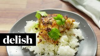 How To Make Cilantro Lime Chicken & Rice | Delish