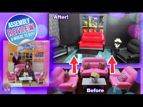 Attrayant Barbie Living Room Set By Gloria REVIEW U0026 Assembly