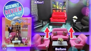 Barbie Living Room Set by Gloria REVIEW & Assembly