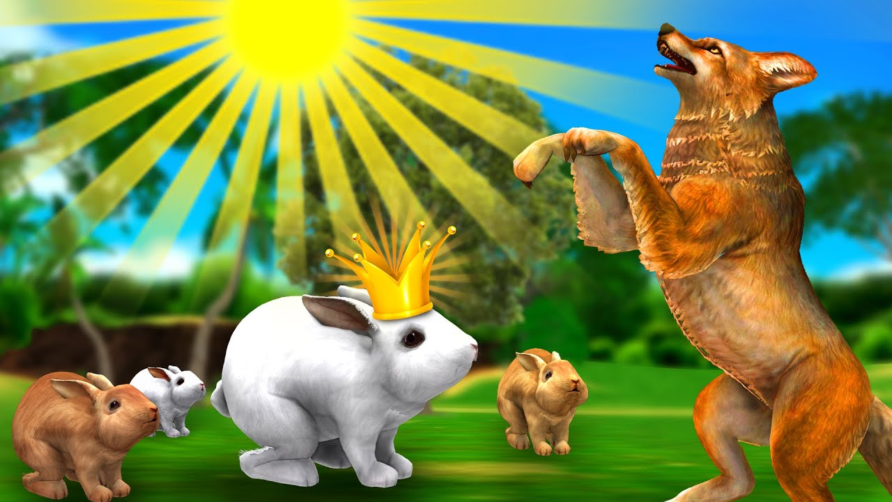 सियार और खरगोश - Jackal and Rabbit Hindi Kahaniya - 3D Animated Panchatantra Moral Stories