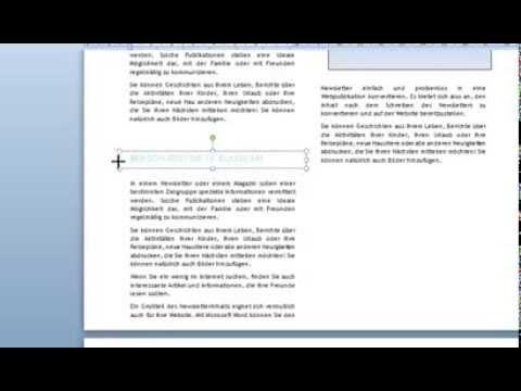 Zeitung mit Word 2010 und Office-Vorlage aus dem Internet