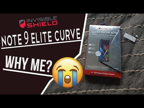 NOTE 9 - ZAGG Curve Elite (Full Adhesive) / Review - IT CRACKED!