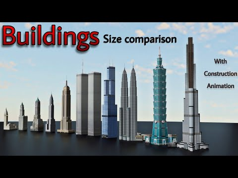 Tallest Buildings In The World Size Comparison 3D | Skyscrapers Height Comparison | 2020