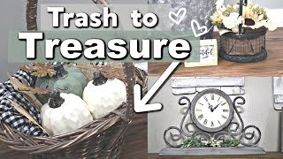 Trash to Treasure FARMHOUSE DIYS | Thrift Store Makeovers | Krafts by Katelyn