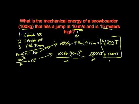 Task List #13 - Mechanical Energy and The Law of Conservation of Energy