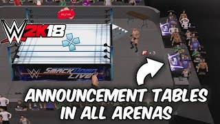 WWE 2K18 PSP, Android/PPSSPP - In-game Announcement Table Added