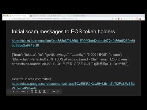 Fighting Fraud on EOS Blockchain