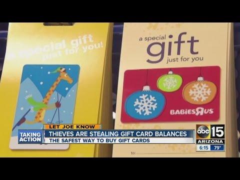 Thieves stealing gift card balances