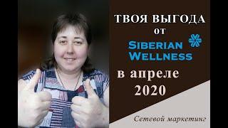 Сибирское Здоровье. Продукция по акции в апреле 2020. Выгода от регистриции. Siberian Wellness