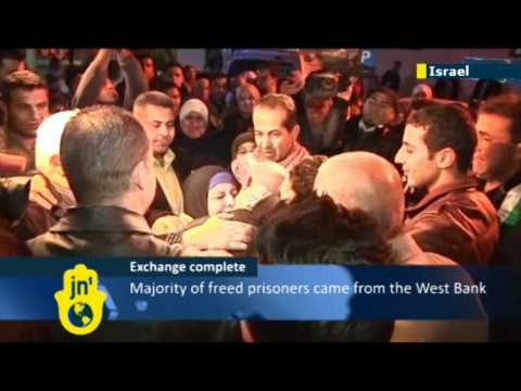 550 Palestinian prisoners released: Second phase of Israel-Hamas prisoner exchange for Gilad Shalit