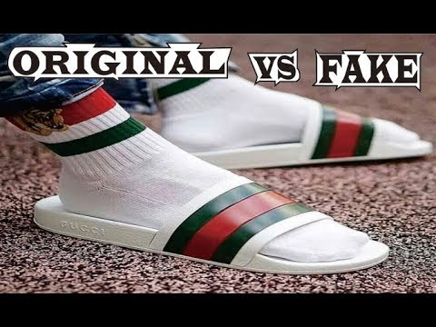 Gucci Rubber Slide Sandal White Original \u0026 Fake