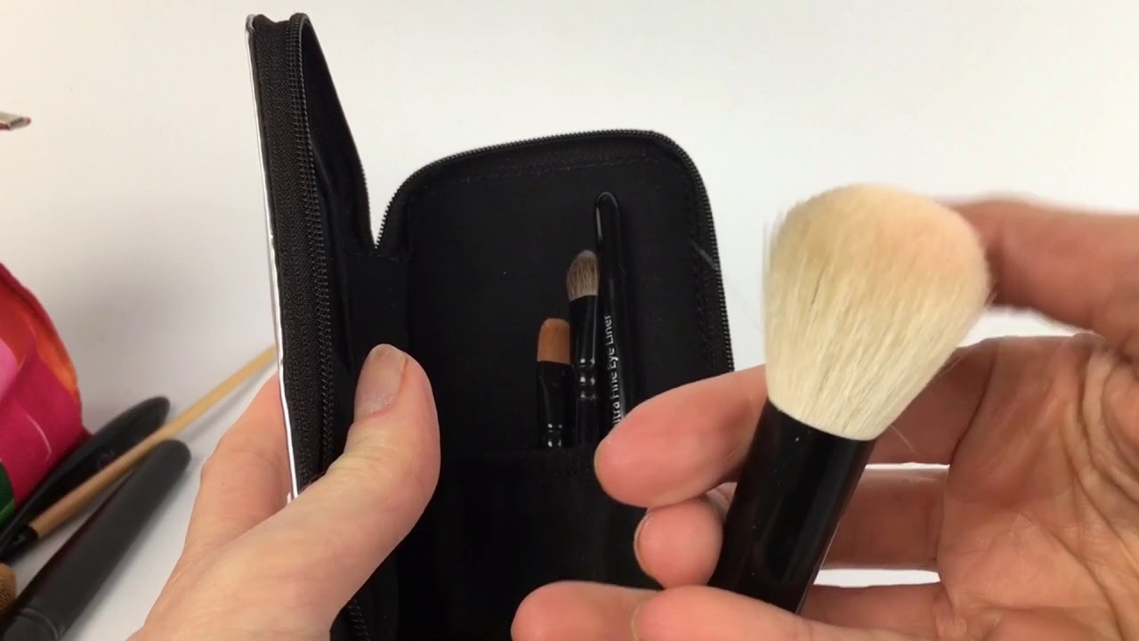 6d9b357fbbf0 TINY BUT FIERCE  Handmade Bella Mini Travel Makeup Brush Set with Mirror  Travel Case