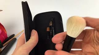 TINY BUT FIERCE: Handmade Bella Mini Travel Makeup Brush Set with Mirror Travel Case