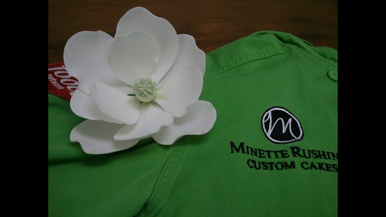 How To Make A Gumpaste Magnolia Part 1 Of 3 Youtube