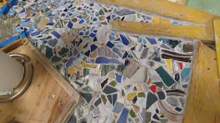 Repeat youtube video Grout cleaning in-prog, Multiple amputee awaiting deportation Holocaust art © A.K.Segan