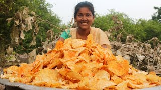 Potato Wafers | Home Made Crispy Potato Chips | Quick and Easy Aloo Chips Recipe