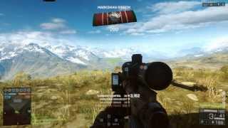 Battlefield 4 Longest Sniper Shot of 3007m (Previous World Record Longest Headshot on 11-22-2013)
