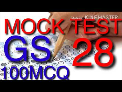 MOCK TEST 28 GS 100 MCQ WITH EXPLATIONS(Right Academy)