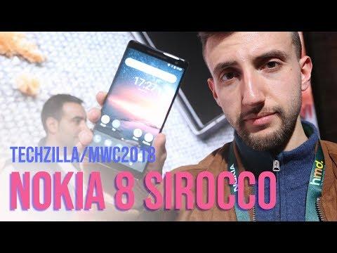 NOKIA 8 Sirocco è STUPENDO ! Hands-on - MWC 2018