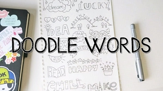 How to turn WORDS into Doodles! | Doodle Words