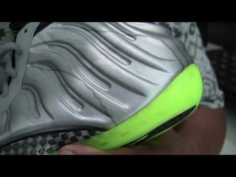 Nike Air Foamposite One PRM (Metallic Silver/Volt)