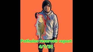 Potholes Reservoir bass report